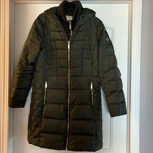 olive green MK down coat